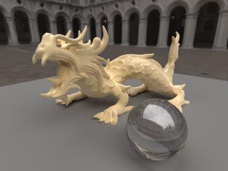 Rough xyzrgb dragon [11,000 spp] [uni-dir PT]