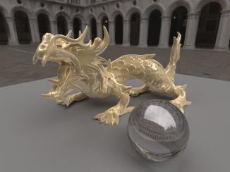 Plastic xyzrgb dragon [5,000 spp] [uni-dir PT]